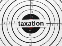 taxation on a bullseye, denoting target